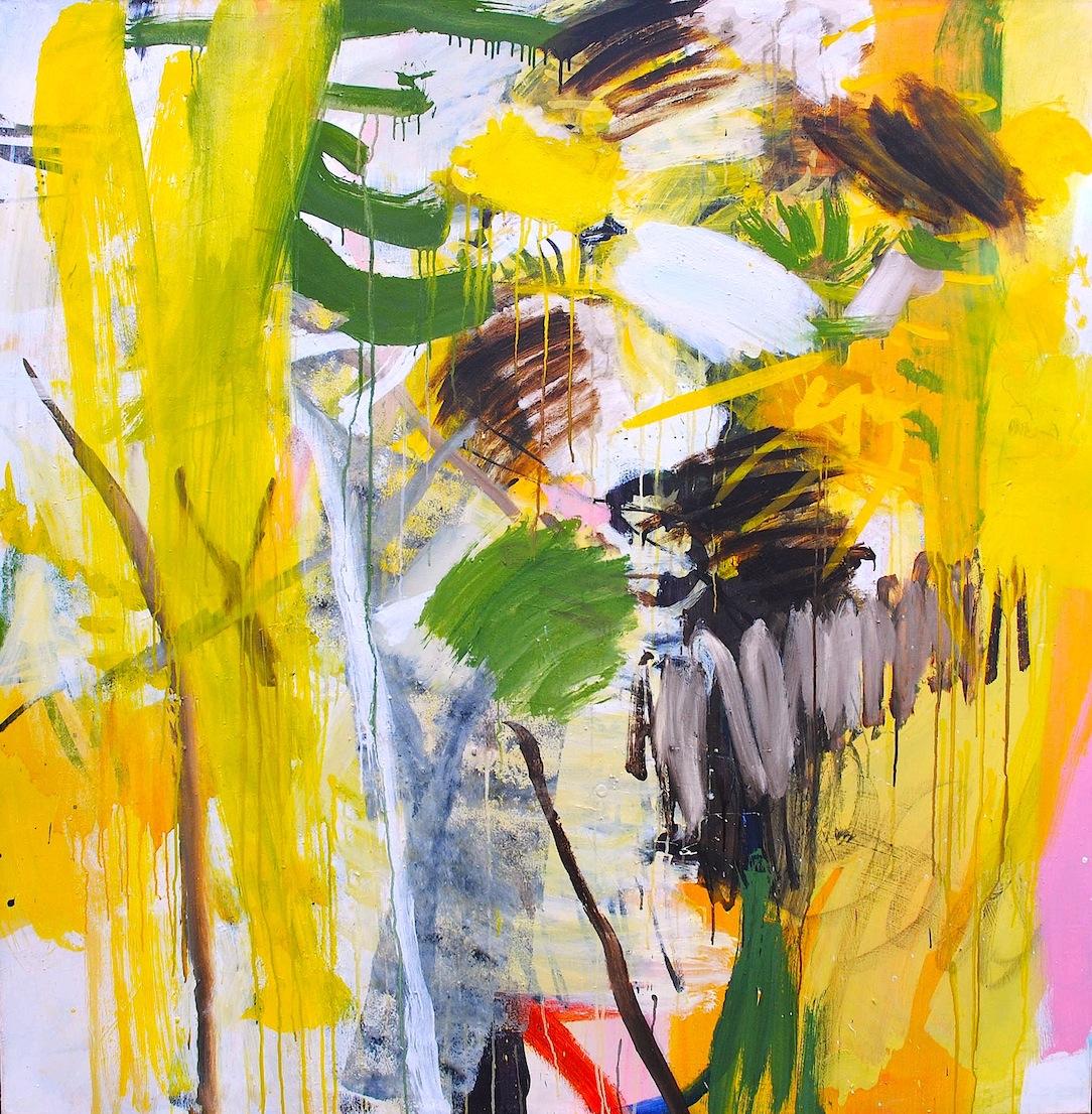 Arbres, acrylique sur toile, 150x150cm