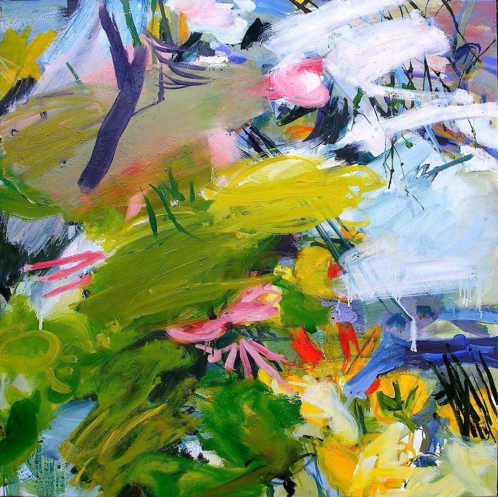 Mousses, acrylique sur toile, 100x100cm