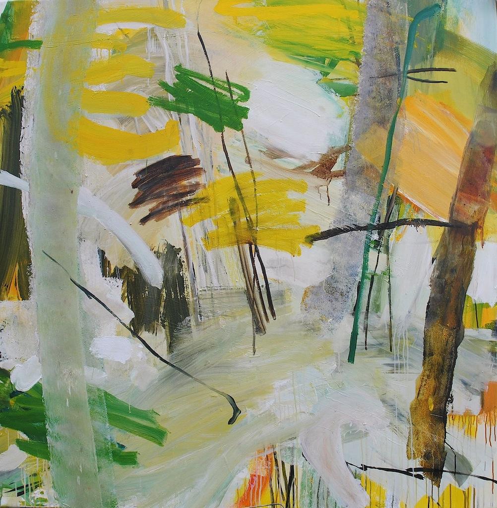 Chant-diphonique n°2, acrylique sur toile, 150x150cm