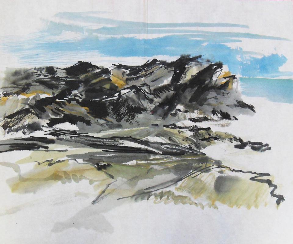 Encre, pigments et colle sur papier chinois - 45x37,5cm
