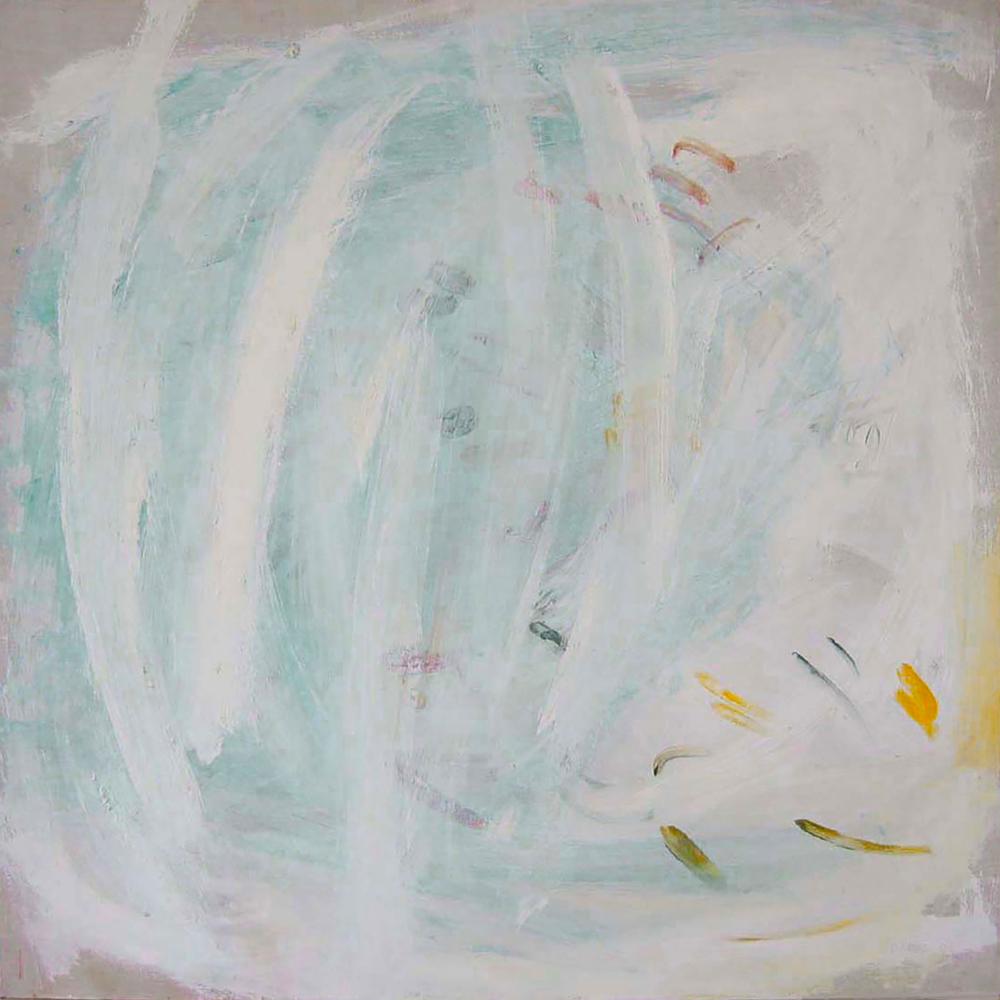 """""""Une influence opaque""""   acrylique sur toile - 80x80cm - 2003"""