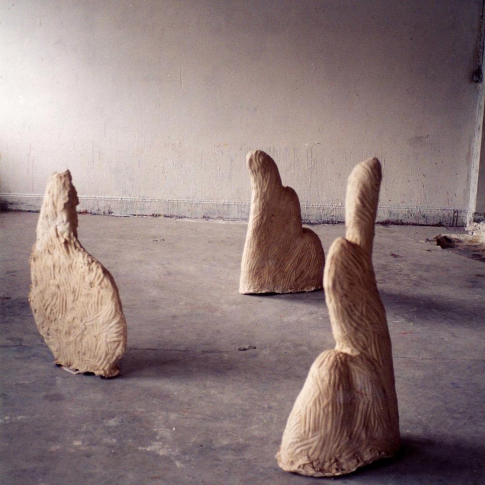 Ailes, Plâtre coulé, 79x49x23cm, 1992