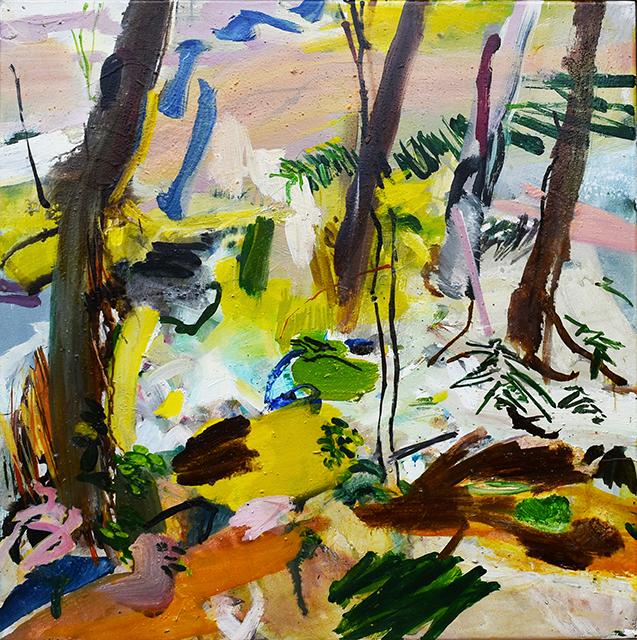 Ruisseau, acrylique sur toile, 50x50cm