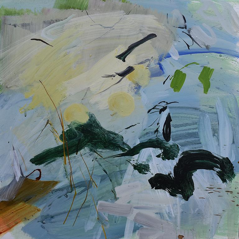 Ciel, acrylique sur toile, 80x80 cm