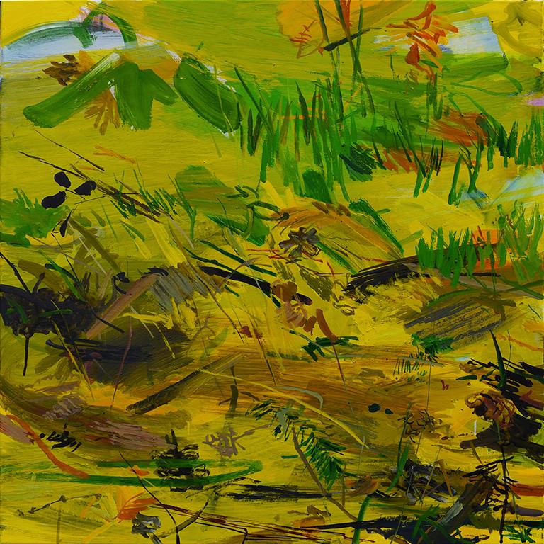 Parterre, acrylique sur toile, 80x80 cm